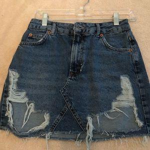 Mini Denim Skirt from Top Shop